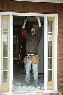 Handyman person who works in general building maintenance
