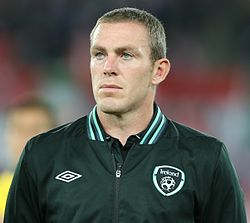 FIFA WC-qualification 2014 - Austria vs Ireland 2013-09-10 - Richard Dunne 01.jpg
