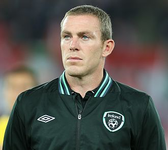 Richard Dunne - Dunne playing for the Republic of Ireland in 2013.