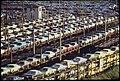 FOB DETROIT-NEW CARS ARE LOADED ONTO RAILROAD CARS AT LASHER AND I-75 - NARA - 549696.jpg