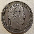 FRANCE 5 FRANCS -LOUIS PHILIPPE I 1845 b - Flickr - woody1778a.jpg