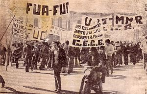 Argentine University Federation - Manifestation by FUA, 1974