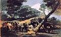 Fabricación de la pólvora en la Sierra de Tardienta por Francisco Goya.jpg