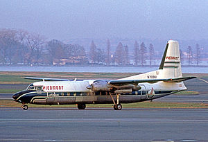 Piedmont Airlines (1948–89) - Fairchild-Hiller FH-227B at Washington DCA in 1972