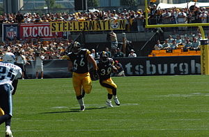 2005 Pittsburgh Steelers season - Alan Faneca blocks for Willie Parker
