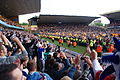 Fans celebrating Premiership survival at Molineux - Geograph-2422063.jpg