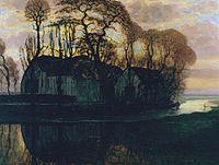 Farm Near Duivendrecht, in the Evening by Piet Mondrian.jpg
