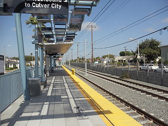 Farmdale station - Westbound platform.