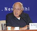 "Farooq Abdullah addressing at the Phase – 1 Solar Power Developers Meet and presentation of the ""Certificate of Appreciation"" and Trophies to Solar Power Developers for their best performance, in New Delhi.jpg"