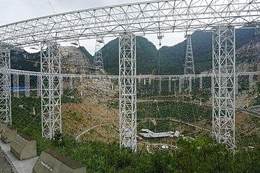 Sphärisches 500-Meter-Apertur-Teleskop im Bau