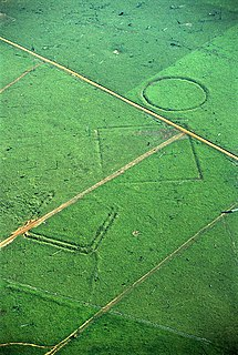 Geoglyph Motif produced on the ground; observed only remotely or from space
