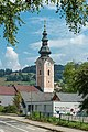 Feldkirchen Stadtpfarrkirche Mariä Himmelfahrt Kirchturm 02082018 6098.jpg