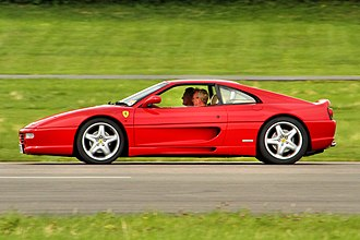 Ferrari F355 - The side profile of the Ferrari F355
