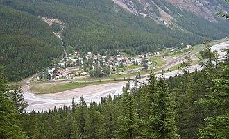 Field, British Columbia - Field viewed from Mount Burgess