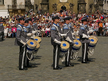 The Conscript Band of the Finnish Defense Forces--drums Finland military band drums.jpg