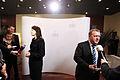 Finlands statsminister Mari Kiviniemi och Danmarks statsminister Lars Loekke Rasmussen pa Nordiska radets session i Reykjavik 2010.jpg