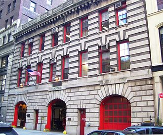 Organization of the New York City Fire Department - The quarters of Engine 7, Tower Ladder 1, the Chief of the 1st Battalion, and the Assistant Chief of the Manhattan Borough Command, located in Tribeca, Manhattan