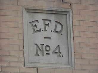 Fire Station No. 4 (Elmira, New York) - Image: Fire Station No 4 emblem