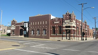 Sparta, Illinois - Intersection of Market Street and Broadway downtown