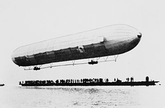 Zeppelin - The first flight of LZ 1 over Lake Constance (the Bodensee) in 1900