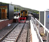 First ever scheduled arrival at Ebbw Vale Town station - geograph.org.uk - 4479435.jpg