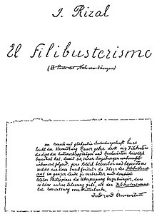First page of El filibusterismo manuscript.jpg