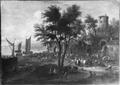 Fish Market near a Coast Town (Mathys Schoevaerdts) - Nationalmuseum - 17630.tif