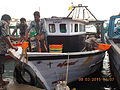Fishing boats at Rameswaram fishing port..JPG