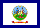 Flag of West Virginia (1907–29)