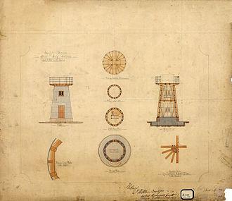 Flat Top Island Light - Plan of the lighthouse, 1877