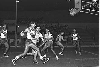 United States men's national basketball team - Game between the United States and the Brazil national team in 1957.