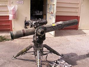 Hezbollah armed strength - A Hezbollah Toophan ATGM in 2006.