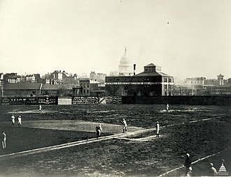Swampoodle Grounds - Image: Flickr US Capitol Washington Nationals baseball team of the National League circa 1886 1889