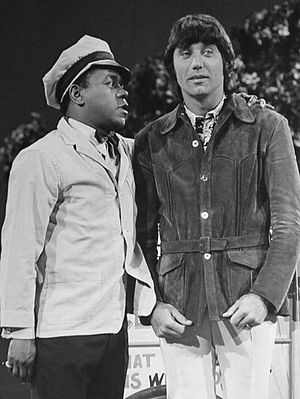 The Flip Wilson Show - Wilson as Herbie, the ice cream man with an attitude, and guest star Joe Namath, 1972.