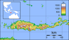 Map showing the location of Kelimutu National Park