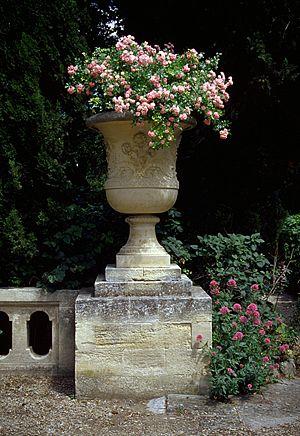 Park of Abbaye Saint-André inside the fortress Fort-Saint-André of Villeneuve-lez-Avignon, France