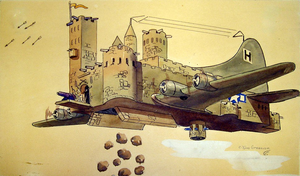 Flying Fortress Cartoon