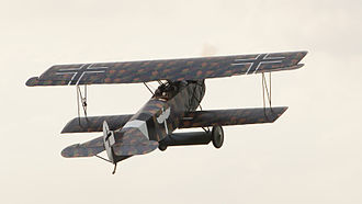 Aircraft camouflage - Fokker D.VII in lozenge camouflage