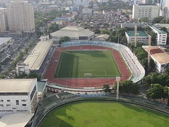 Rizal Memorial Stadium - Rizal Memorial Stadium from the air
