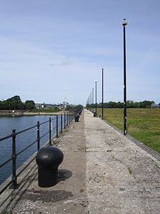 Footpath alongside Egerton Dock, Birkenhead.JPG