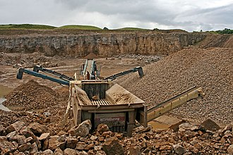 East Layton - Quarrying limestone, Forcett Quarry, north of East Layton