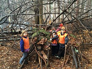 Cumming Nature Center - Children learn about and connect with nature at the Forest School.