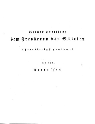Johann Sebastian Bach: His Life, Art, and Work - Dedication to Freiherr van Swieten
