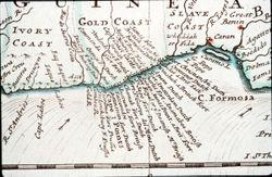 המצודות ההיסטוריות בגאנה בשנת 1770