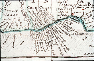 Hendrik Carloff - Forts of the Gold Coast (map circa 1700)