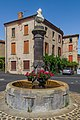 Fountain at Place Saint-Laurent in Orsonnette 01.jpg