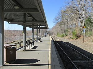 Franklin Line - Foxboro station, the terminus of a proposed branch of the Franklin Line