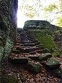 Fr Ochsenstein Stairs leading north of Fourth rock.jpg