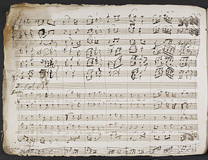 François-Hippolyte Barthélémon - Manuscript copy of Jefte in Mafsa.