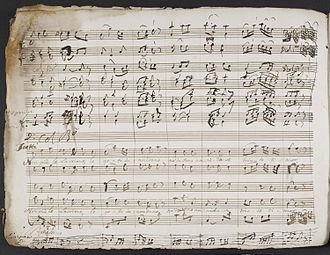 François-Hippolyte Barthélémon - Manuscript copy of Jefte in Mafsa.